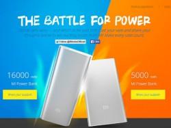 Xiaomi Launches Mi 5000mAh and 16000mAh Power Banks in India