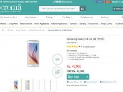 Samsung Galaxy S6 Gets A Price Cut in India, Now Available For Rs 43,900