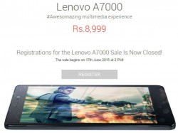 Lenovo A7000 Goes on Flash Sale at 2PM on Flipkart Today
