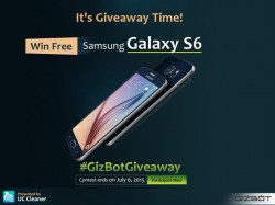 GizBot Giveaway: Win A Free Samsung Galaxy S6, Download UC Cleaner Now!