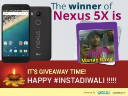 Celebrate #instaDiwali with Bajaj Finserv & GizBot, stand a chance to win Nexus 5X
