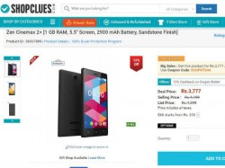 Price Drop Alert: Zen Cinemax 2+ Available for Rs. 3,777 on ShopClues!