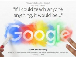 11-year old Pune girl wins 'Doodle 4 Google' contest