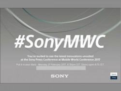 Sony sends out media invites for the MWC 2017 event