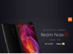 Xiaomi Redmi Note 4 Matte Black variant to finally go on sale on March 1 in India