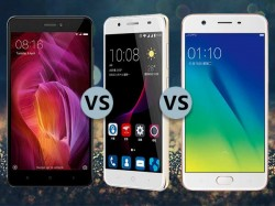 Xiaomi Redmi Note 4 Vs. Oppo A57 Vs. ZTE Blade A2 Plus: Which one should you choose?