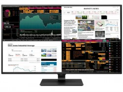 LG 4K monitor shows four displays in one 42.5-inch panel