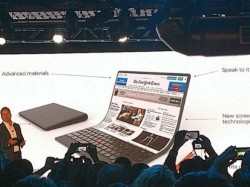 Lenovo shows concept of laptop with foldable display