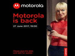 Motorola is now sending out press invites for June 27 event: Moto Z2 likely to be launched