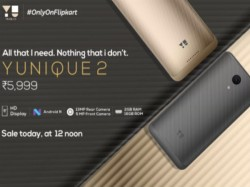 Yu Yunique 2 is up for grabs via Flipkart from 12 PM today