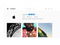 Apple now has a followable page on Instagram