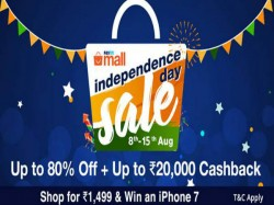 PayTM Mall Independence Day offers: Google Pixel, iPhone 7, Mi Max 2, Xperia XZ and more