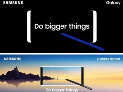 Samsung Galaxy Note 8 along with stylus appears in promotional poster