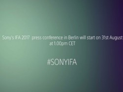 Sony to unveil Xperia XZ1 and more at IFA 2017: Watch the live stream from here