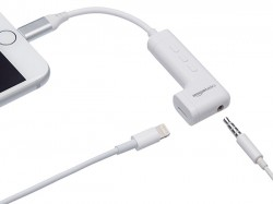 Amazon Basics' lightning to 3.5mm jack for iPhone is the best adapter of the sort, retails at $30