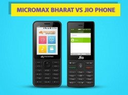 Micromax Bharat 1 vs Reliance JioPhone: Which 4G feature phone do you prefer