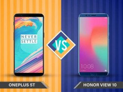 Honor View 10 vs OnePlus 5T: Which offers better value for your money
