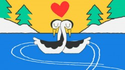 Google Doodle celebrates Valentine's Day with love birds skating on ice