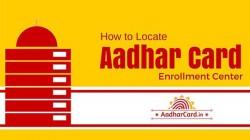 How to locate an Aadhaar enrolment center near you via online