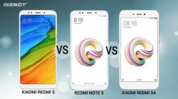 Xiaomi Redmi 5 vs Redmi Note 5 vs Redmi 5A: Clash of budget smartphones