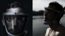 The D-Mask a concept design can be a high-tech mask for diving and snorkeling