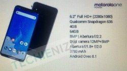Moto One Power complete specifications leaked online