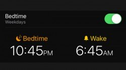 How to use Bedtime feature in iOS