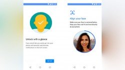 Moto Face Unlock app is listed on Google Play Store; supports select Motorola smartphones