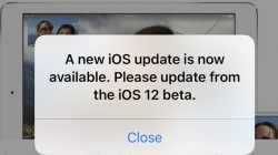 """iOS 12 Beta bug pops up """"Update Software"""" message constantly"""