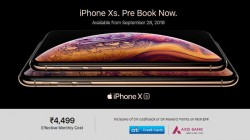 Buy the Apple iPhone XS at a starting price of Rs 4,499