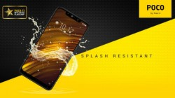 POCO F1 is splash resistant and comes with Quick Charge 4.0