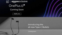 OnePlus 6T partial render leaks; teased by Amazon along with Type-C Bullets headphones