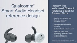 Qualcomm introduces an Alexa-powered earbuds reference design for OEMs