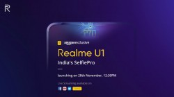 Realme U1 will launch on the 28th of November as an Amazon Exclusive