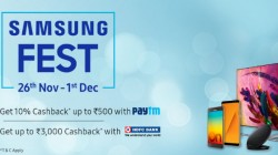 Samsung FEST 26th 1st Dec: Discounts and Cashback Offers on Smartphones