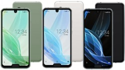 Sharp Aquos R2 Compact with dual notch displays vs other high-end smartphones