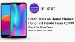 Honor Days Sale on Flipkart: (13th to 16th Dec): Get attractive discounts on Honor phones