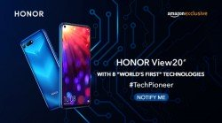 Honor V20 launching as Honor View20 exclusively via Amazon India