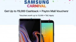 PayTM Mall Republic Day Samsung Carnival offers on smartphones