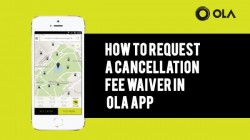 How to request a cancellation fee waiver in Ola app