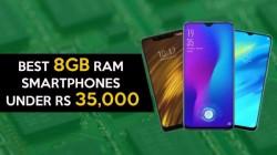 Best 8GB RAM smartphones to buy under Rs. 35,000