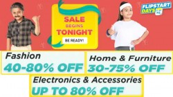Flipkart Flipstart Days Sale – Irresistible Discount Of Up To 80% On TVs, Electronics And More