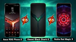 Asus ROG Phone II Vs Xiaomi Black Shark 2 Vs Nubia Red Magic 3