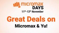 Flipkart Micromax Days Sale: Great Deals On Smartphones