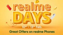 Flipkart Realme Days Sale Provides Attractive Discounts On Smartphones