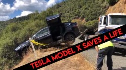 Tesla Model X Saves Owner From Falling Into Steep Hill: Report