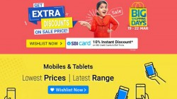 Flipkart Big Shopping Days Sale: Offers On Electronics, Mobiles, Tablets, TV, Fashion And More