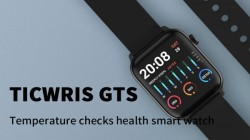 Ticwris GTS Smartwatch With Built-in Thermometer Records Real-Time Body Temperature