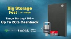 Paytm Mall Big Storage Fest 2020: Micro USB OTG, External HDD Device, microSDXC Memory Card, Pendriv