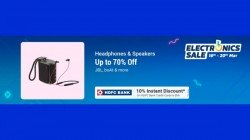 Flipkart Electronics Sale Up To 70% Off On Headphones And Speakers